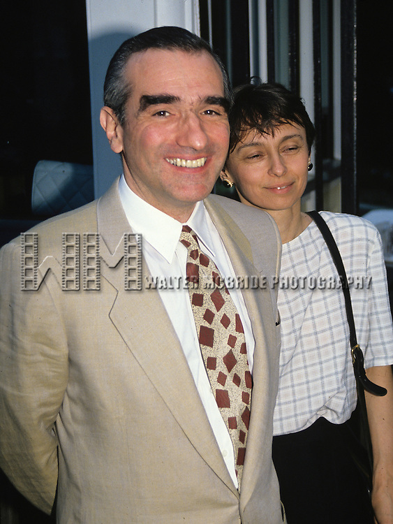 Martin Scorsese and wife in New York City in 1990.