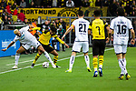 09.02.2019, Signal Iduna Park, Dortmund, GER, 1.FBL, Borussia Dortmund vs TSG 1899 Hoffenheim, DFL REGULATIONS PROHIBIT ANY USE OF PHOTOGRAPHS AS IMAGE SEQUENCES AND/OR QUASI-VIDEO<br /> <br /> im Bild | picture shows:<br /> Zweikampf zwischen Joelinton (Hoffenheim #34) und Mahmoud Dahoud (Borussia Dortmund #19), <br /> <br /> Foto © nordphoto / Rauch