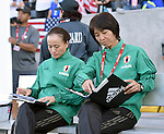 (L-R)  Asako Takakura,  Obe Yumi (JPN), JUNE 2, 2016 - Football / Soccer : Women's International Friendly match between United States 3-3 Japan at Dick's Sporting Goods Park in Commerce City, Colorado, United States. (Photo by AFLO)