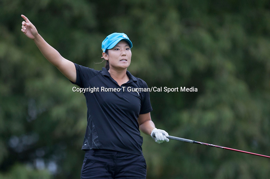 November 17, 2011: Tiffany Joh reacts to her shot on the par 3 4th  during first round golf action from the CME Group Titleholders held at The Grand Cypress Resort, Orlando, Fla.
