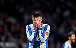 David Lopez Silva of RCD Espanyol reacts during the La Liga 2018-19 match between Atletico de Madrid and RCD Espanyol at Wanda Metropolitano on December 22 2018 in Madrid, Spain. Photo by Diego Souto / Power Sport Images