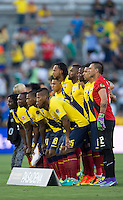 action photo during the match Brasil vs Ecuador, at Rose Bowl Stadium Copa America Centenario 2016. ---Foto  de accion durante el partido Brasil vs Ecuador, En el Estadio Rose Bowl, Partido Correspondiante al Grupo -B-  de la Copa America Centenario USA 2016, en la foto: ecuador<br /> --- 04/06/2016/MEXSPORT/ Osvaldo Aguilar