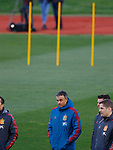 Spanish Luis Enrique during the training of the spanish national football team in the city of football of Las Rozas in Madrid, Spain. March 18, 2019. (ALTERPHOTOS/Manu R.B.)