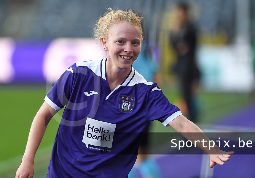 20190807 - ANDERLECHT, BELGIUM : Anderlecht's Charlotte Tison pictured during the female soccer game between the Belgian RSCA Ladies – Royal Sporting Club Anderlecht Dames  and the Greek FC PAOK Thessaloniki ladies , the first game for both teams in the Uefa Womens Champions League Qualifying round in group 8 , Wednesday 7 th August 2019 at the Lotto Park Stadium in Anderlecht  , Belgium  .  PHOTO SPORTPIX.BE | DAVID CATRY