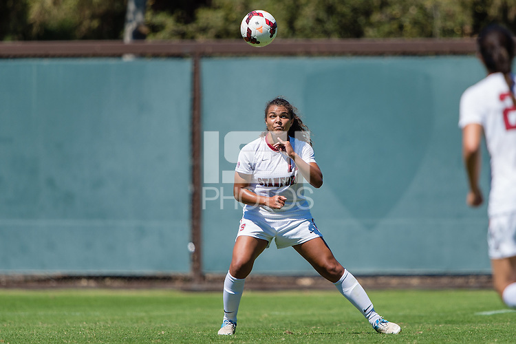 September 8, 2013: Maya Theuer during the Stanford vs Maryland women's soccer match in Stanford, California.  Stanford won 3-0.