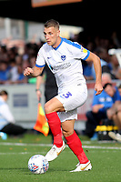 Lee Brown of Portsmouth in action during AFC Wimbledon vs Portsmouth, Sky Bet EFL League 1 Football at the Cherry Red Records Stadium on 13th October 2018