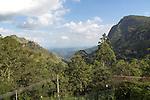 View of Ella Gap pass, Ella, Badulla District, Uva Province, Sri Lanka, Asia