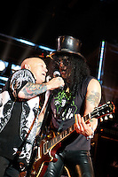Angry Anderson of Rose Tattoo performs with Slash at the MTV Classic Launch, The Palace Theatre, Melbourne, 28 April 2010