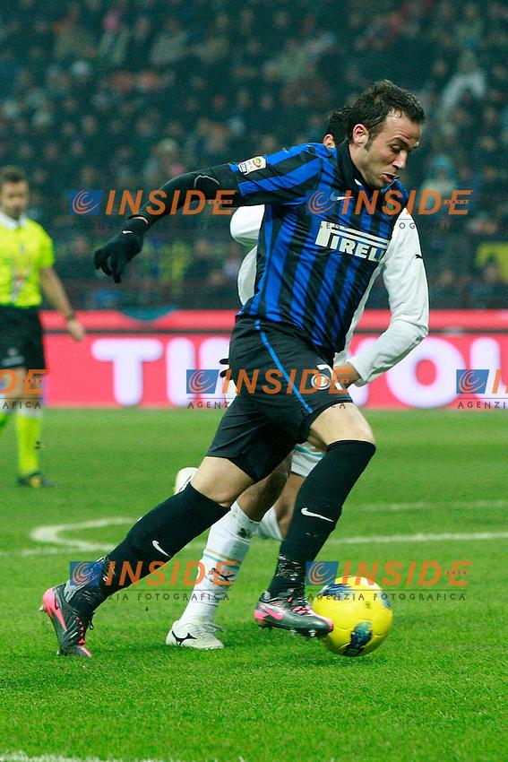 """Giampaolo Pazzini Inter..Milano 22/01/2012 Stadio """"S.Siro""""..Football / Calcio Serie A 2011/2012..Inter vs Lazio 2-1..Foto Insidefoto Paolo Nucci"""