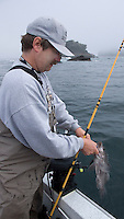 Neah Bay, Straits of Juan DeFuca, and Cape Flattery area of the northwestern most tip of Washington State where the Pacific Ocean spills into the waters between Washington and British Columbia,Canada is a popular sport fishing area for bottomfish and salmon.