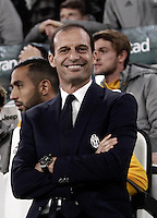 Calcio, Serie A: Juventus Stadium. Torino, Juventus Stadium, 29 ottobre 2016.<br /> Juventus coach Massimiliano Allegri waits for the start of the Italian Serie A football match between Juventus and Napoli at Turin's Juventus Stadium, 29 October 2016. Juventus won 2-1.<br /> UPDATE IMAGES PRESS/Isabella Bonotto