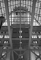 Interior view of the atrium and clock tower through the skylight in the Old Post Office, Washington, DC