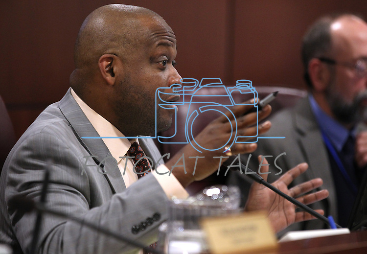 Nevada Assembly Judiciary Committee Chairman William Horne, D-Las Vegas, speaks in a hearing at the Legislature in Carson City, Nev. on Monday, Feb. 28, 2011. .Photo by Cathleen Allison