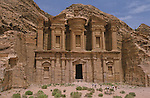 The facade of the Deir measure 49 m long and 39 m highThe Deir, built on the top of a mountain is one of the most fascinating monument of Petra. Petra. Jordan