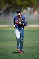 Minnesota Twins Trey Cabbage (45) during a Minor League Spring Training game against the Tampa Bay Rays on March 15, 2018 at CenturyLink Sports Complex in Fort Myers, Florida.  (Mike Janes/Four Seam Images)