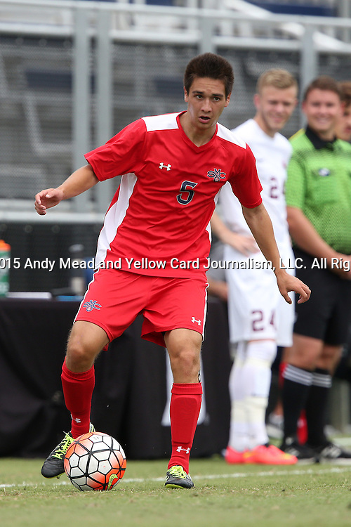 30 August 2015: Saint Mary's Austin Allison. The Elon University Phoenix played the Saint Mary's College Gaels at Koskinen Stadium in Durham, NC in a 2015 NCAA Division I Men's Soccer match. Elon won the game 1-0.