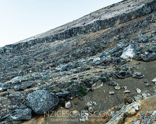 Volcanic rocks, Tongariro Nationasl Park, Central Plateau, North Island, UNESCO World Heritage Area, New Zealand, NZ