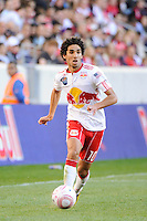 Mehdi Ballouchy (10) of the New York Red Bulls during a Major League Soccer (MLS) match at Red Bull Arena in Harrison, NJ, on October 09, 2010.