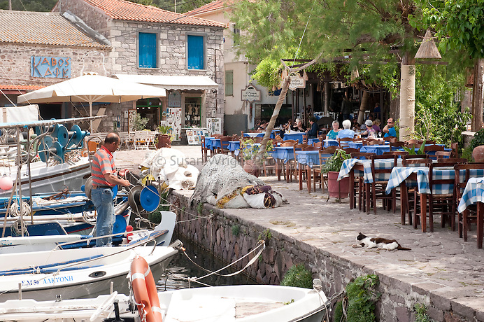 Skala Skamnias, Lesbos Island, Greece