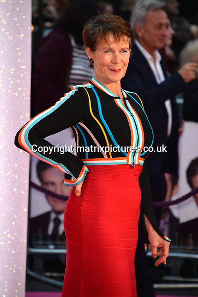 NON EXCLUSIVE PICTURE: MATRIXPICTURES.CO.UK<br /> PLEASE CREDIT ALL USES<br /> <br /> WORLD RIGHTS<br /> <br /> English &quot;Absolutely Fabulous&quot; actress Celia Imrie attends the world premiere of &quot;Bridget Jones's Baby&quot; at Leicester Square in London.<br /> <br /> SEPTEMBER 5th 2016<br /> <br /> REF: JWN 162864