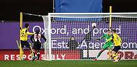 4th February 2020; Kassam Stadium, Oxford, Oxfordshire, England; English FA Cup Football; Oxford United versus Newcastle United; Nathan Holland of Oxford shoots and scores in extra time to bring the scores level 2-2