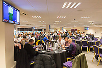 The 1912 Heritage Experience in the Gower Suite with adverts from Peter Lynn and Partners Solicitors prior to kick off of the Premier League match between Swansea City and Leicester City at The Liberty Stadium, Swansea, Wales, UK. Saturday 21 October 2017