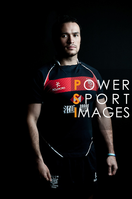 Simon Leung poses during the Hong Kong 7's Squads Portraits on 5 March 2012 at the King's Park Sport Ground in Hong Kong. Photo by Andy Jones / The Power of Sport Images for HKRFU