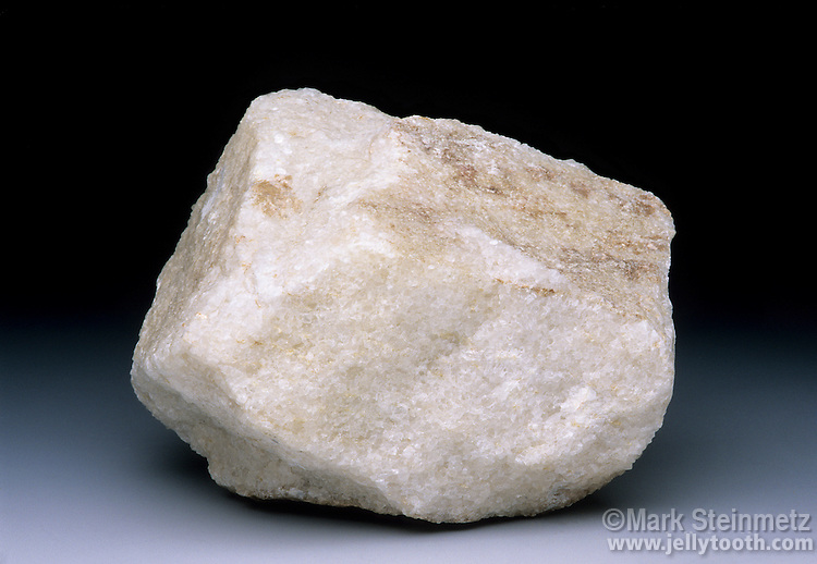 Sample of white marble, a metamorphic rock.