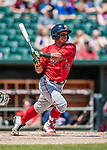 31 May 2018: Portland Sea Dogs catcher Jhon Nunez in action against the New Hampshire Fisher Cats at Northeast Delta Dental Stadium in Manchester, NH. The Sea Dogs rallied to defeat the Fisher Cats 12-9 in extra innings. Mandatory Credit: Ed Wolfstein Photo *** RAW (NEF) Image File Available ***