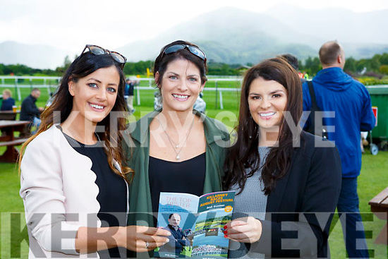 Norma Roche, Sinead and Gina Kellieher looking for a winner at the Killarney Races on Wednesday