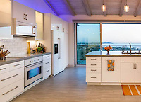 Skylark Residence, San Diego, completed in 2013. Remodel with ocean view. Detail of kitchen. Jen Landau Prior, designer.