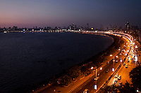 Evening scenes at the Marine Drive, also known as The Queen's Necklace, Mumbai, India. Photo by Suzanne Lee