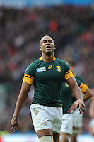 JP Pietersen of South Africa during Match 41 of the Rugby World Cup 2015 between South Africa and Wales - 17/10/2015 - Twickenham Stadium, London<br /> Mandatory Credit: Rob Munro/Stewart Communications