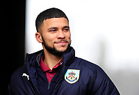 Burnley's Nahki Wells arrives at the liberty stadium <br /> <br /> Photographer Ashley Crowden/CameraSport<br /> <br /> The Premier League - Swansea City v Burnley - Saturday 10th February 2018 - Liberty Stadium - Swansea<br /> <br /> World Copyright &copy; 2018 CameraSport. All rights reserved. 43 Linden Ave. Countesthorpe. Leicester. England. LE8 5PG - Tel: +44 (0) 116 277 4147 - admin@camerasport.com - www.camerasport.com