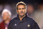 1 December 2006: Notre Dame head coach Randy Waldrum. The University of Notre Dame Fighting Irish defeated Florida State Seminoles 2-1 at SAS Stadium in Cary, North Carolina in an NCAA Division I Women's College Cup semifinal game.