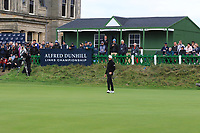 Matthew Southgate (ENG) on the 18th green during Round 4 of the Alfred Dunhill Links Championship 2019 at St. Andrews Golf CLub, Fife, Scotland. 29/09/2019.<br /> Picture Thos Caffrey / Golffile.ie<br /> <br /> All photo usage must carry mandatory copyright credit (© Golffile | Thos Caffrey)