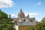 Cathedral church in Jerez de la Frontera, Cadiz province, Spain