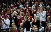 SPOKANE, WA - MARCH 28, 2011: Stanford Fans, Stanford Women's Basketball vs Gonzaga, NCAA West Regional Finals at the Spokane Arena on March 28, 2011.
