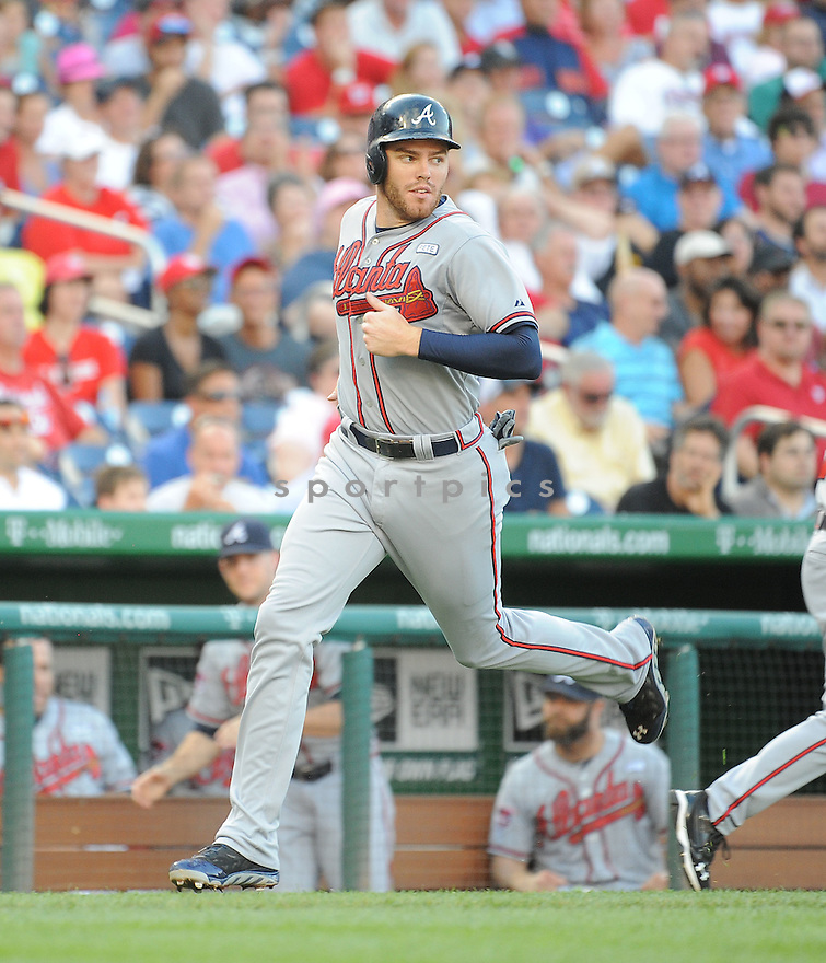 Atlanta Braves Justin Upton (8) during a game against the Washington Nationals on September 10, 2014 at Nationals Park in Washington DC. The Braves beat the Nationals 6-2.