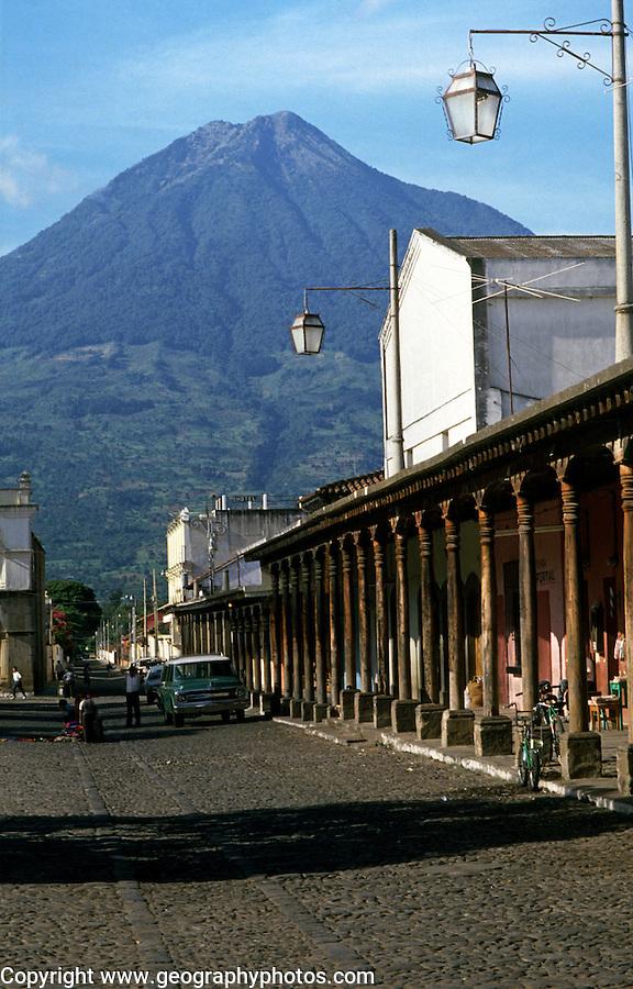 Calle del Arco, Agua volcano,, Antigua, Guatemala