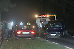 A 3 vehicle RTA on the Drogheda to Duleek road shortly after 6 pm on Tuesday night last , caused massive tail backs as the three vehicles blocked the road, Fire service from Drogheda and Ashbourne as well as ambulance service personell attended the scene  ferrying the injured to hospital including an infint that received head injuries after the Air bag went off in the front of one of the vehicles. Garda from Drogheda and Duleek closed the road while the emergency services were dealing with the casulties.. Photo: Newsfile/Fran Caffrey.