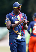 Carlos Braithwaite during the T20 friendly between Kent and the Netherlands at the St Lawrence Ground, Canterbury, on July 3, 2018