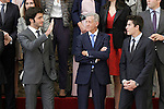 Spanish rider cars Carlos Sains Jr, Gonzalo Marin, father of Carolina Marin, world champion badminton and spanish rider moto GP Marc Marquez during the National Sports Awards 2014. November 17, 2015. (ALTERPHOTOS/Acero)