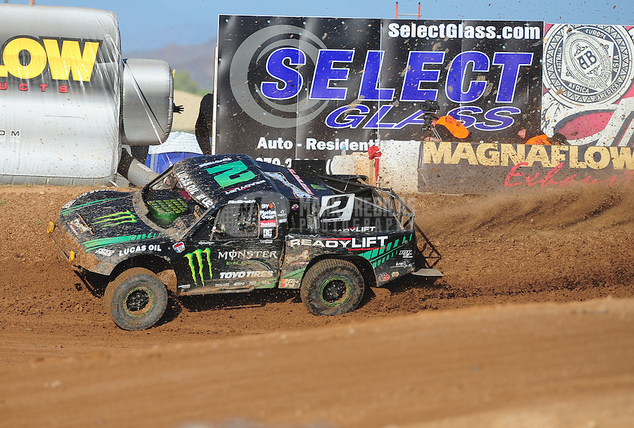 Apr 16, 2011; Surprise, AZ USA; LOORRS driver Jeremy McGrath (2) during round 3 at Speedworld Off Road Park. Mandatory Credit: Mark J. Rebilas-