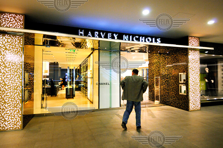 An entry to the Istanbul branch of Harvey Nichols department store, including a Chanel boutique, in the luxury Kanyon shopping mall.