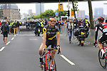 Thomas Voeckler (FRA) Direct Energie at sign on in Dusseldorf before the start of Stage 2 of the 104th edition of the Tour de France 2017, running 203.5km from Dusseldorf, Germany to Liege, Belgium. 2nd July 2017.<br /> Picture: Eoin Clarke | Cyclefile<br /> <br /> <br /> All photos usage must carry mandatory copyright credit (&copy; Cyclefile | Eoin Clarke)