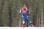 09/12/2016, Pokljuka - IBU Biathlon World Cup.<br /> Gabriela Koukalova competes at the sprint race in Pokljuka, Slovenia on 09/12/2016.