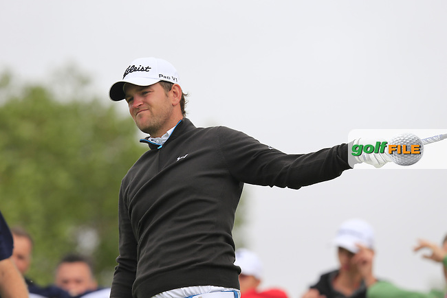 Bernd WIESBERGER (AUT) tees off the 9th tee during Saturday's Round 3 of the Portugal Masters 2015 held at the Oceanico Victoria Golf Course, Vilamoura Algarve, Portugal. 15-18th October 2015.<br /> Picture: Eoin Clarke | Golffile<br /> <br /> <br /> <br /> All photos usage must carry mandatory copyright credit (&copy; Golffile | Eoin Clarke)