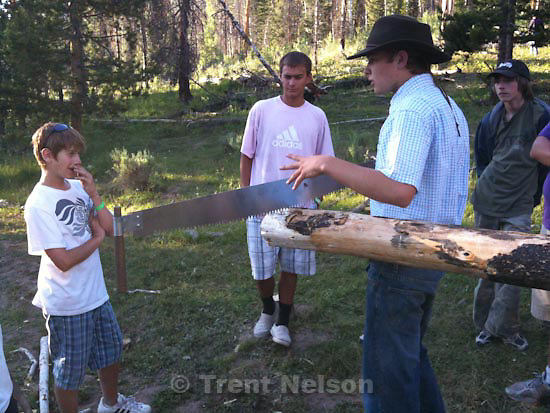 scout camp. Camp Frontier. Tuesday, July 21 2009.sam hacker, spencer watchman, Noah Nelson, ben ash