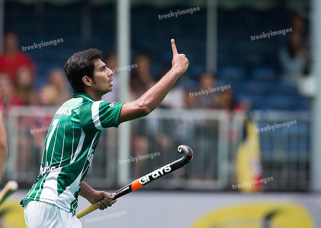 28/06/2015<br /> HWL Semi Final Antwerp Belgium 2015<br /> Pakistan v France Men<br /> Muhammad Waqas<br /> Photo: Grant Treeby